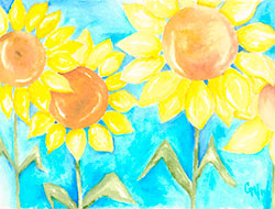Sunflowers in Spring Painting